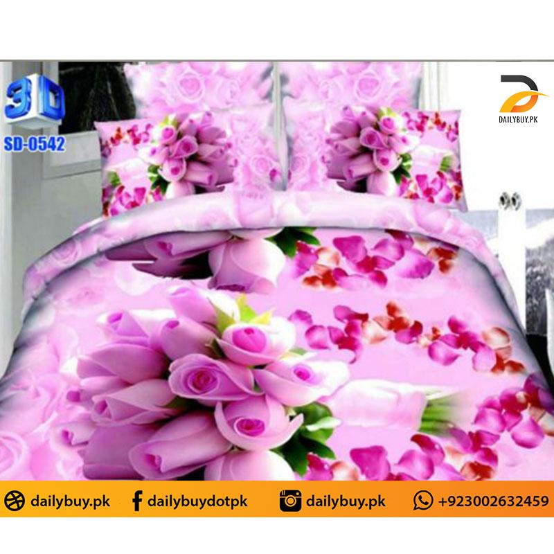 3D Digital Bed Sheet 0542