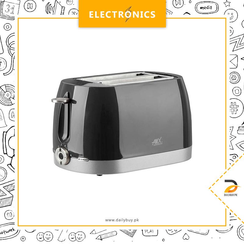 Anex AG-3018 - Slice Toaster - Black