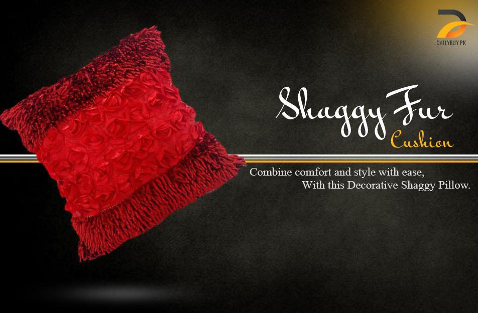 Shaggy Fur Cushion CS-11