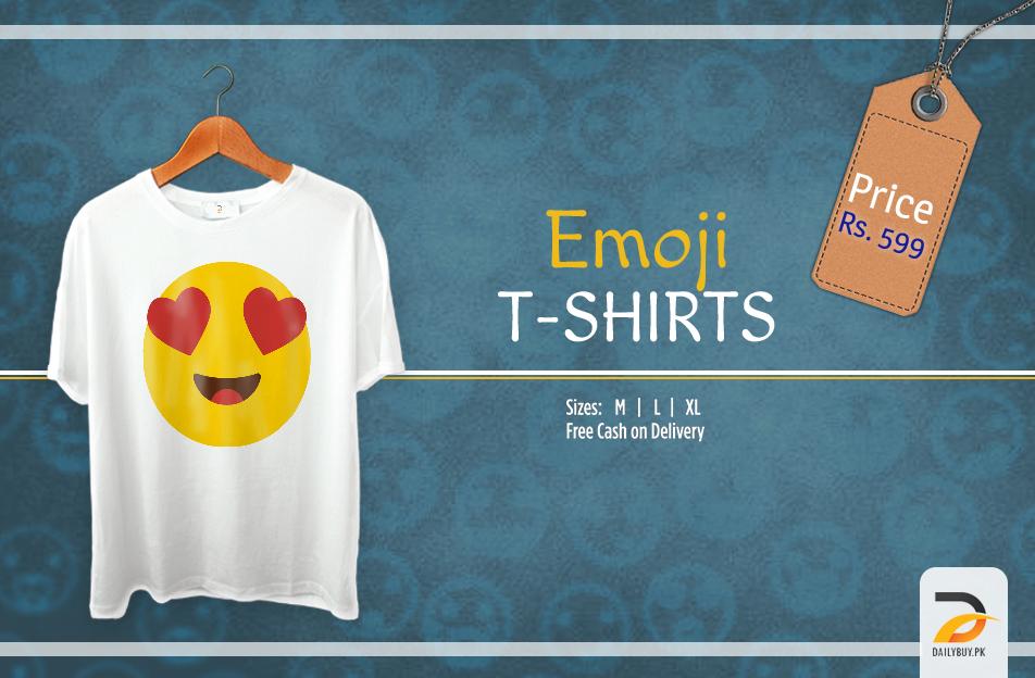 Emoji T Shirt - Heart Shaped Eye