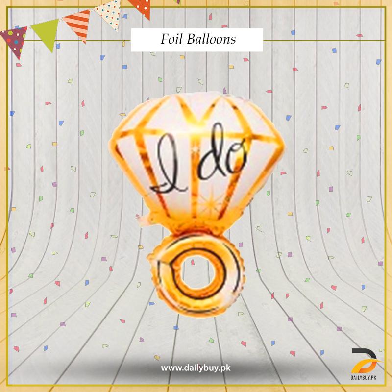 I DO RING Foil Balloon