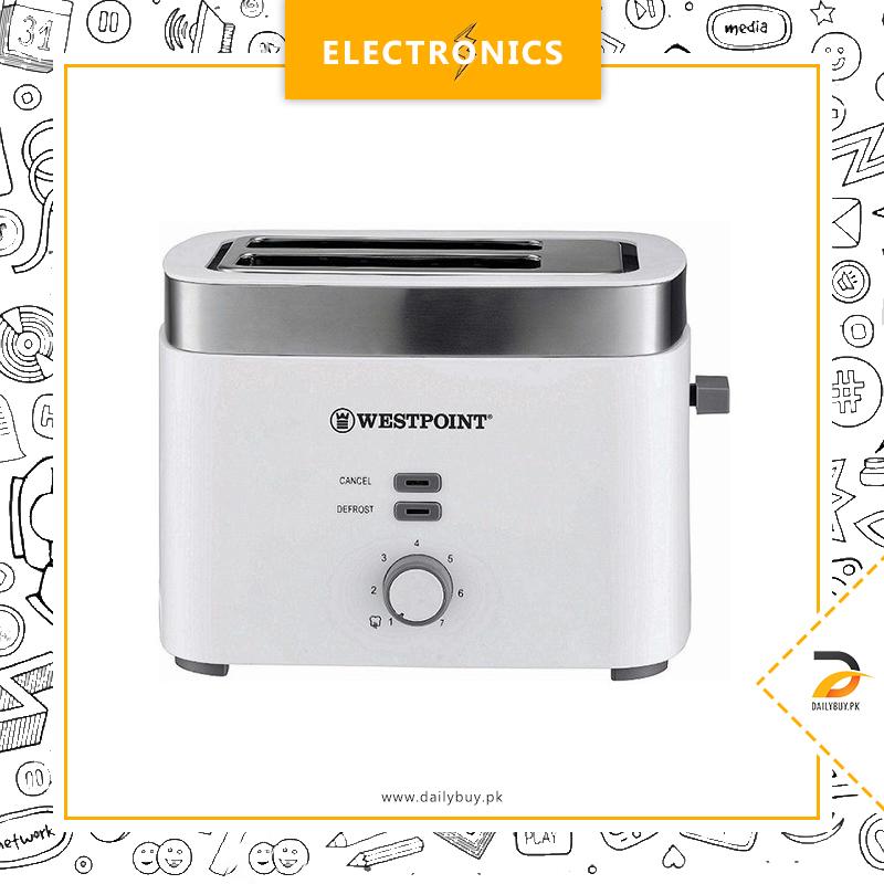 Westpoint Wf-2583 - 2 Slice Pop-Up Toaster - White & Grey
