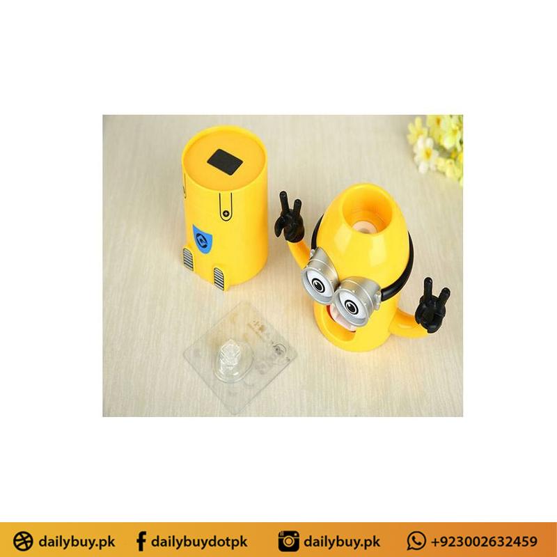 Minion Tooth Paste Dispenser & Brush Holder - Yellow
