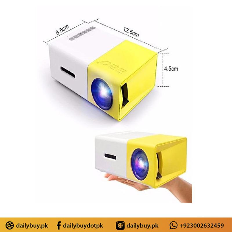 Portable Mini LED HD Projector - Yellow