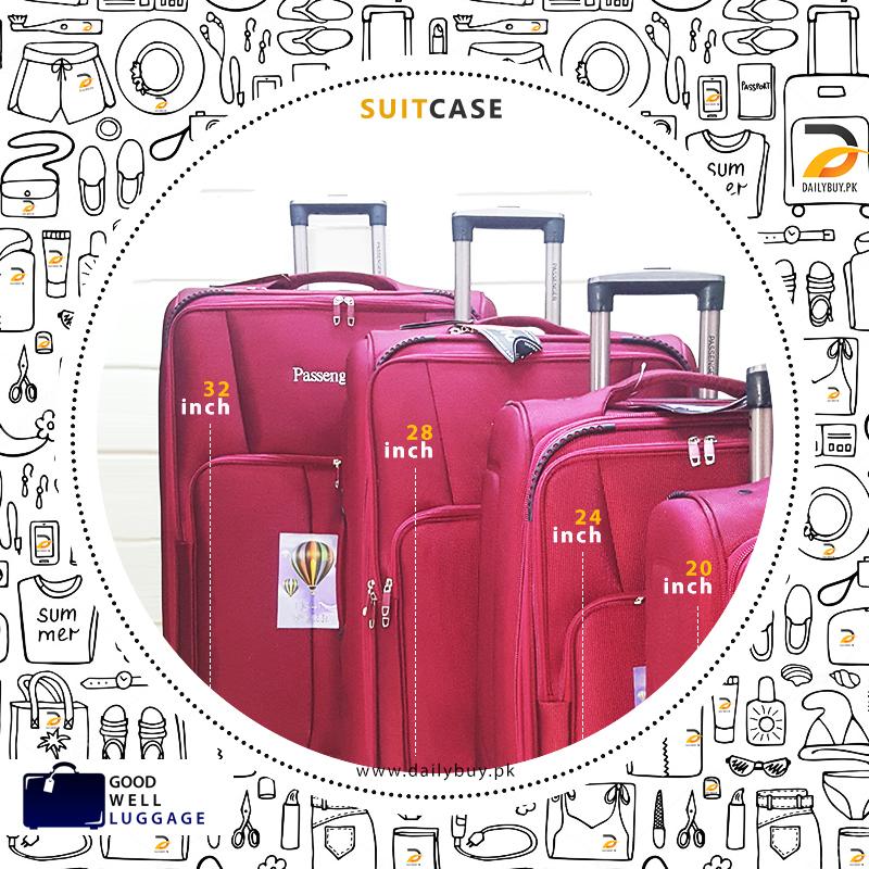 Passenger Suit Case Combo Pack
