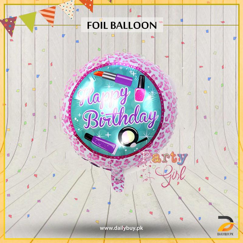 Happy Birthday Nail Polish Designed Foil Balloon