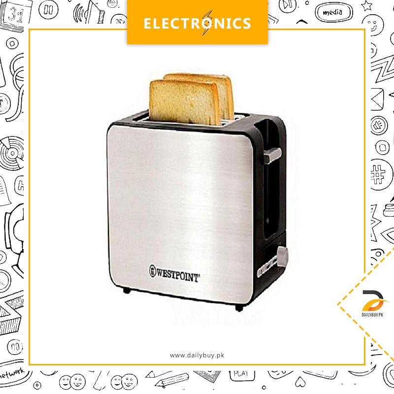Westpoint Deluxe 2 Slice Pop-Up Toaster - WF-2532 - Black & Silver