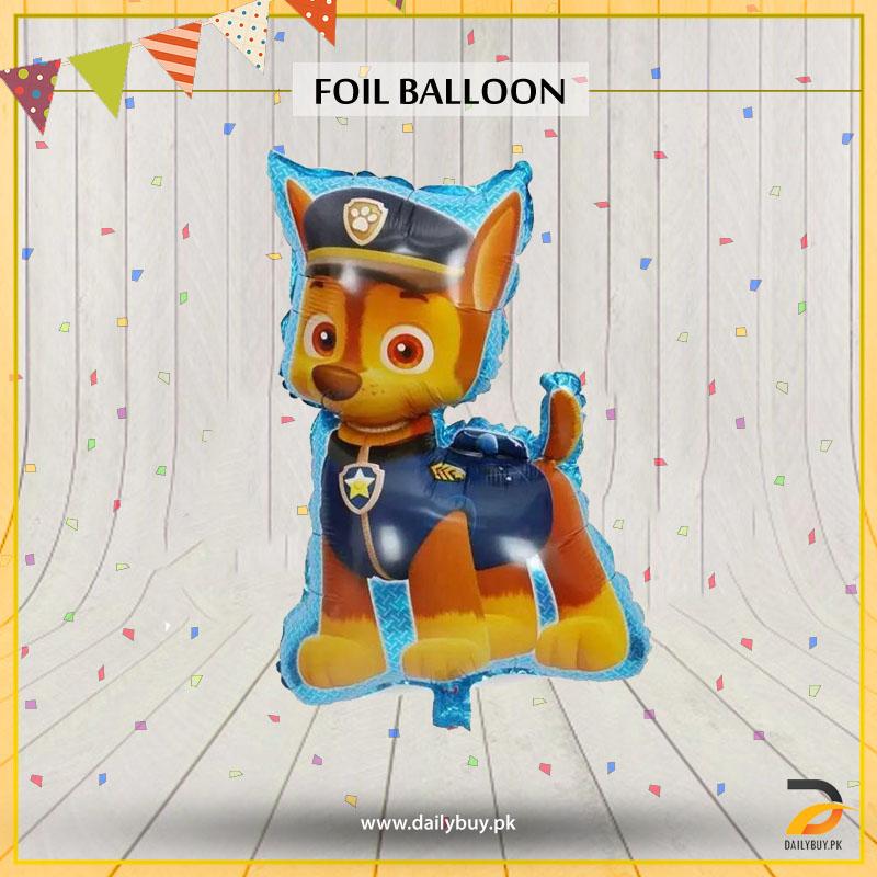 Cartoon Force Dog Foil Balloon