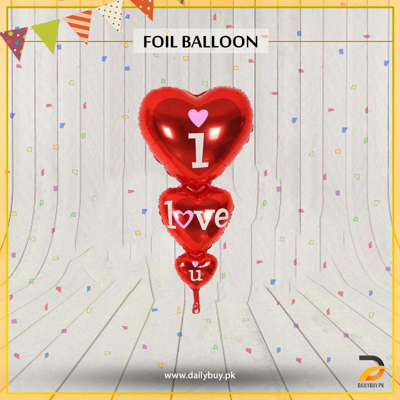 I Love You Heart Shape Foil Balloon