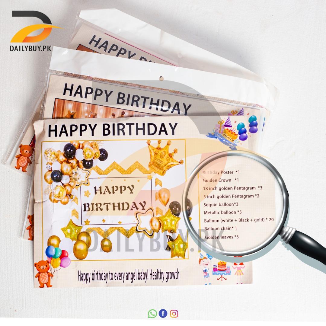 Black Golden Birthday Theme Set