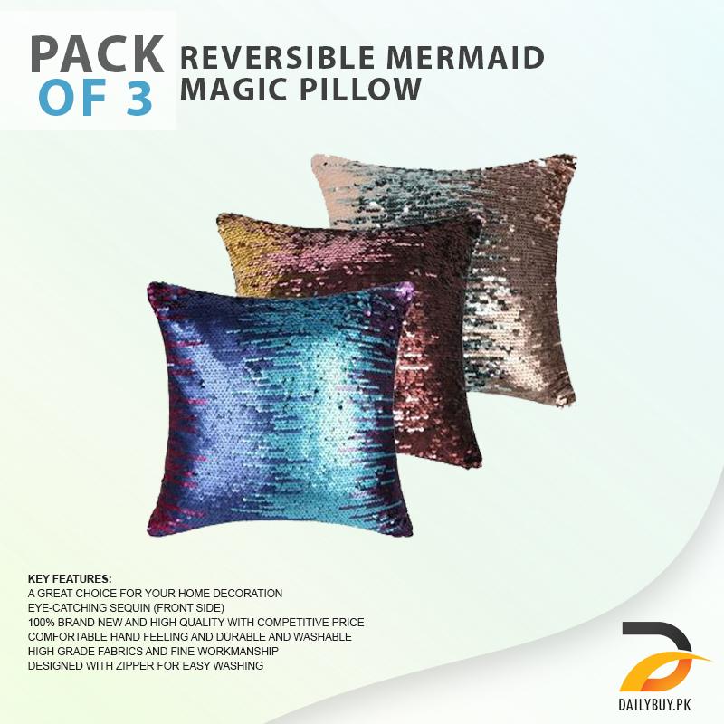 Reversible Mermaid Magic Pillow