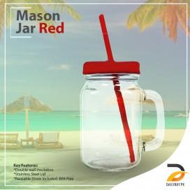 Mason Jar Red