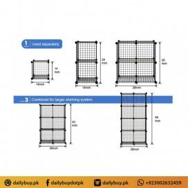 Multi Use Wire 3 Cube Cabinet